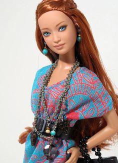 Custom OOAK Barbie named Amber by Peewee Parker