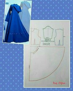 Sewing Fashion Patterns Costura 40 Ideas For 2019 Dress Sewing Patterns, Sewing Patterns Free, Clothing Patterns, Diy Clothing, Sewing Clothes, Doll Clothes, Fashion Sewing, Diy Fashion, Abaya Pattern