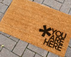 Spray Painted Welcome Mats--great idea!