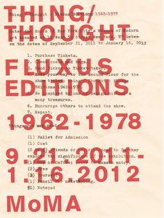 Ben Grandgenett, Fluxus Exhibition Poster: MoMA