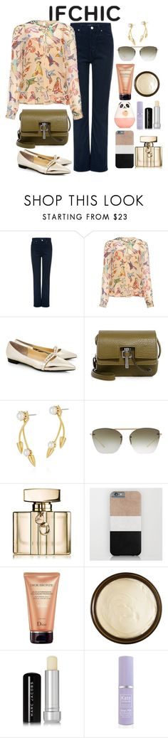 """""""@ifchic #ifchic #summersale"""" by samahdasan ❤ liked on Polyvore featuring RED Valentino, Eugenia Kim, Carven, Joomi Lim, Oliver Peoples, Gucci, Christian Dior, Aurelia Probiotic Skincare, Marc Jacobs and Kate Somerville"""