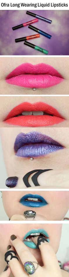 Ofra Cosmetics Long Wearing Liquid Lipsticks.They come in 19 different colors!
