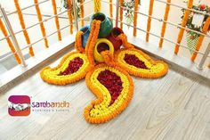 Matka decoration with flower mehendi Diwali Decorations At Home, Marriage Decoration, Wedding Stage Decorations, Flower Decorations, Rangoli Designs Flower, Colorful Rangoli Designs, Flower Rangoli, Rangoli With Flowers, Rangoli Ideas
