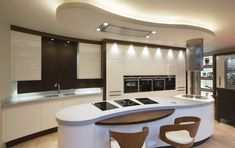 The Milano Contemporary Kitchen by Acanthus Featuring Parapan, Corian. Contemporary Style, Contemporary Kitchens, Modern, Corian Worktops, Walnut Timber, Acanthus, Home Reno, Panel Doors, Wood Veneer