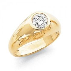 mens solitaire diamond ring - Google Search