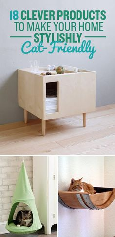 Cats Toys Ideas 18 Clever Products To Make Your Home Stylishly Cat-Friendly - Ideal toys for small cats Cat Hacks, Cat Diys, Hacks Diy, Ideal Toys, Cat Room, Pet Furniture, Barbie Furniture, Garden Furniture, Furniture Design