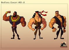 Austin based Powerhouse Animation Studios has worked on a trailer for Broforce that includes explosive action sequence and animated music video. Man Illustration, Character Illustration, Character Design Animation, Character Design References, Animation Reference, Art Reference, Comic Books Art, Comic Art, Mundo Dos Games