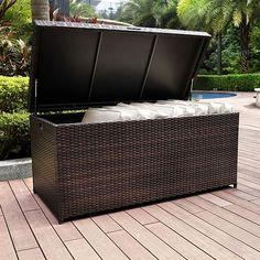 Crosley Furniture Palm Harbor Outdoor Wicker Storage Bin