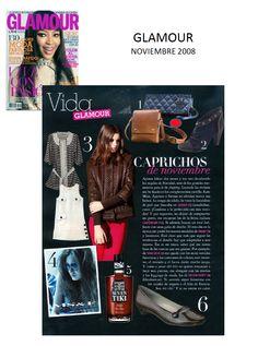 #Colaboración en la #Revista GLAMOUR. Noviembre 2008.