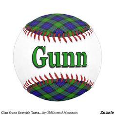 Clan Gunn Scottish Tartan Dreams Baseball