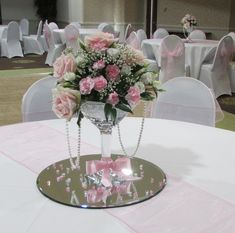 centerpieces using brooch bouquet - Google Search
