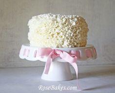 Messy Ruffles Cream Cheese Buttercream Cake Video Tutorial