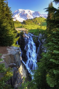 Myrtle Falls, Mt. Rainier National Park; photo by .vtgohokies
