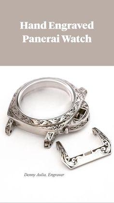 Watch Engraving, Metal Engraving, Custom Engraving, Panerai Watches, Engraved Jewelry, Custom Metal, Groomsman Gifts, Ancient Art, Diy Craft Projects