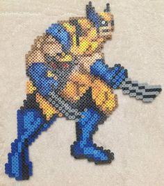 sandylandya@outlook.es  Wolverine Sprite Perler Bead Art by EightBitEvolution