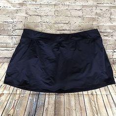 Lands End Navy Blue Swim Bottom Skirt Bathing Suit Bottom Size 16W  | eBay