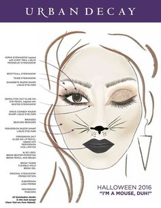 If you're looking for an easy Halloween makeup idea, we've got you covered. Halloween Eye Makeup, Cat Eye Makeup, Halloween Looks, Halloween Kids, Halloween Costumes, Costume Makeup, Party Makeup, Mouse Make Up, Peaky Blinder Haircut