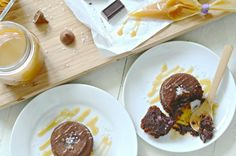 Salted Caramel Chocolate Lava Cakes ~ http://aimeebroussard.com