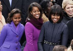 First Lady Michelle Obama and daughters Malia and Sasha are redefining American fashion with Inauguration ensembles as celebs bring their A-game - New York Daily News Michelle Obama, Malia Obama, Barack Obama, Obama Daughter, First Daughter, Mother Daughters, Presidente Obama, Malia And Sasha, First Ladies