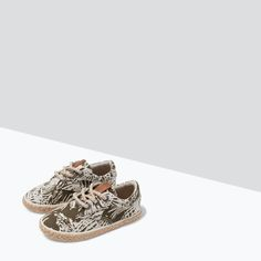 ZARA - SALE - PRINTED LACE-UP ESPADRILLES