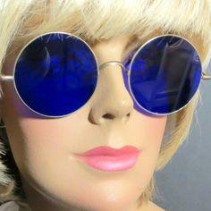 Vintage John Lennon Beatles era cobalt blue Wilson sunglasses RC Antiques Exclusive on Ruby Lane