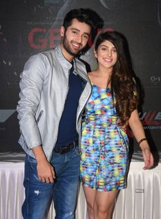 Utkarsh Sharma and Ishita Chauhan are all smiles during the promotion of Bollywood film 'Genius' at National College in Mumbai. (Photo: Viral Bhayani) Genius: Promotions Photogallery at ETimes Genius Movie, Indian Teen, All Smiles, Indian Beauty Saree, Indian Celebrities, Sweet Couple, Bollywood Actors, Vr, True Love