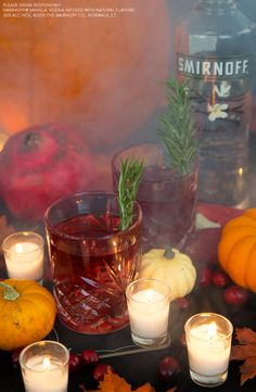 Whether it's the night before Thanksgiving or Thanksgiving dinner, gather with friends and family and try this easy and delicious drink. This recipe adds a new twist to a night of epic reunions. Just mix 1.5oz Smirnoff Vanilla, 1.5oz Cranberry Juice, 1oz Pomegranate Juice, Garnish With Rosemary.