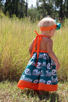 NFL Miami Dolphins Football Sun Dress, KayteMayCreations