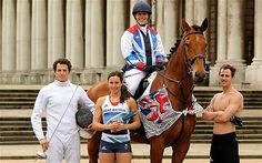Sam Weale, Samantha Murray, Mhairi Spence and Nick Woodbridge - Modern Pentathlon