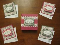 I love Stampin' Up!  These are really pretty #cards.