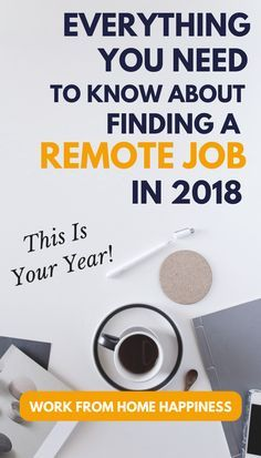 Ready to work from home? Here's everything you need to know about work from home jobs in 2018. This is your year! #workfromhome #workfromhomejobs #workathome #getajob #remotework