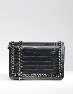 ASOS+Snake+Shoulder+Bag+With+Chain+Handle