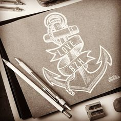 AASKA Work in progress !  #aaska #freelance #graphisme #illustration #creative #creative #drawing #anchor