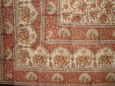 """Block Print Indian Tapestry Cotton Spread 108"""" x 88"""" Full/Queen"""