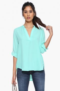 Alexa Love Blouse in Mint | Necessary Clothing