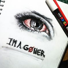 Amazing drawing, but its kinda funny because I have conjunctivitis at the minute
