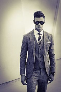 See our range of Mens Tweed Suits for sale. From modern slim-fit suits to classic Harris tweed three piece suit, delivered UK. Buy mens tweed suits, because some things never go out of fashion. Tweed Men, Tweed Suits, Mens Suits, Groom Suits, Gentleman Mode, Gentleman Style, Suit Up, Suit And Tie, Terno Slim Fit