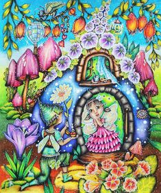 Adult Coloring, Coloring Books, Coloring Pages, Markova, Cute Disney Wallpaper, Whimsical Art, Book Pages, Color Combos, Enchanted