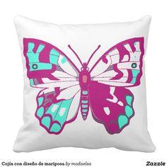 Cojín con diseño de mariposa