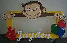 Curious George photo frame