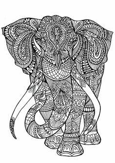 Adult Coloring Pages Elephant Printable And Book To Print For Free Find More Online Kids Adults Of