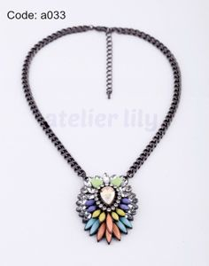multi color Choker pastel color pendant short by AtelierLily, $7.99 (purchase with purchase)