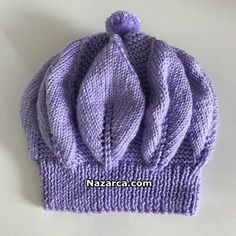 yaprak-sefasi-bere-modeli See other ideas and pictures from the category menu…. Kids Knitting Patterns, Baby Hat Knitting Pattern, Knitting For Kids, Free Knitting, Crochet Kids Hats, Knitted Hats, Child Models, Baby Hats, Blog