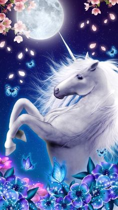 Wallpaper unicorn fantasy horses Ideas for 2019 Unicorn And Fairies, Unicorn Fantasy, Unicorn Horse, Unicorns And Mermaids, Unicorn Art, Fantasy Art, Unicorn Decor, Unicorn Bedroom, Real Unicorn