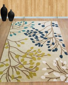 Sanderson Home - Pippin 23808 Teal / Linden Rugs Auckland | New Zealand