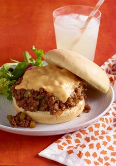 Easy Cheesy Barbecued Sloppy Joes -- Ready for the dinner table in just 30 minutes, this delicious recipe has just six ingredients and all of the flavor of a summer cookout. Pass the napkins, please.