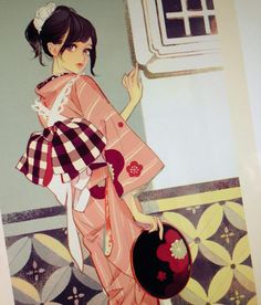 Hiromi Matsou Anime Art Girl, Manga Art, Anime Manga, Anime Girls, Japanese Painting, Japanese Art, Pretty Art, Cute Art, Character Art