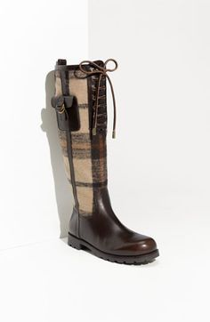 Tory Burch Plaid Flannel & Leather Boot | Nordstrom - StyleSays