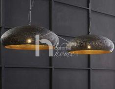 Suspension luminaire design cuivre H meHome