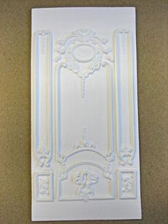 DOLLHOUSE MINIATURE DECORATIVE VICTORIAN WALL PANEL * STAINABLE * PAINTABLE | eBay